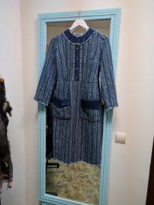 пошив платья в стиле chanel